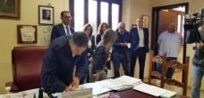 I componenti dei nuovi organismi della Teramo Ambiente firmano la designazione